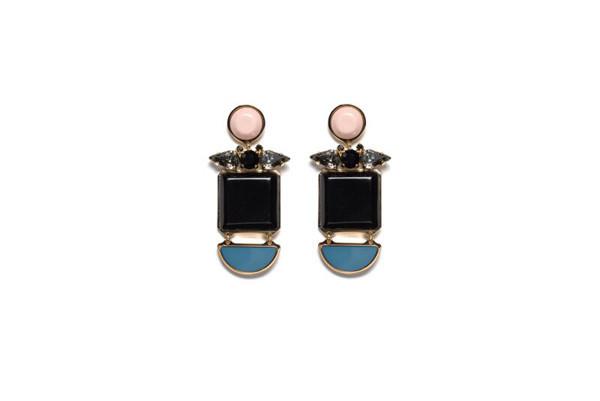 LIZZIE FORTUNATO BLUE MOON EARRINGS