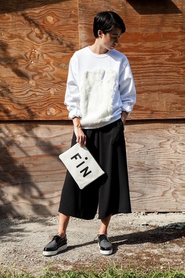 Clare V. Flat Clutch | white amalfi