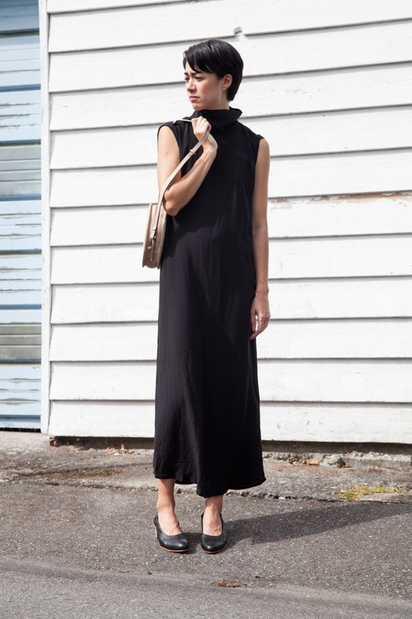 Jesse Kamm Stack Dress | black