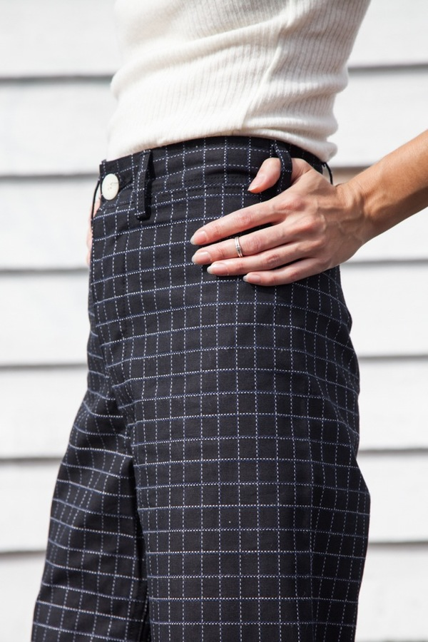 Jesse Kamm Sailor Pant | black windowpane