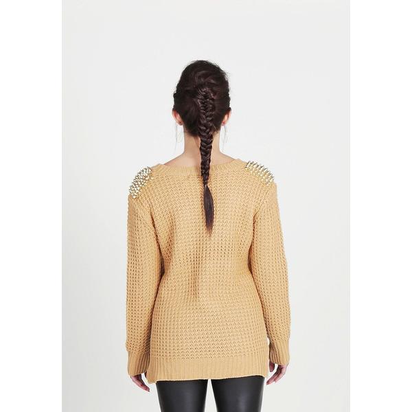 Ark & Co. Waffle Stud Sweater