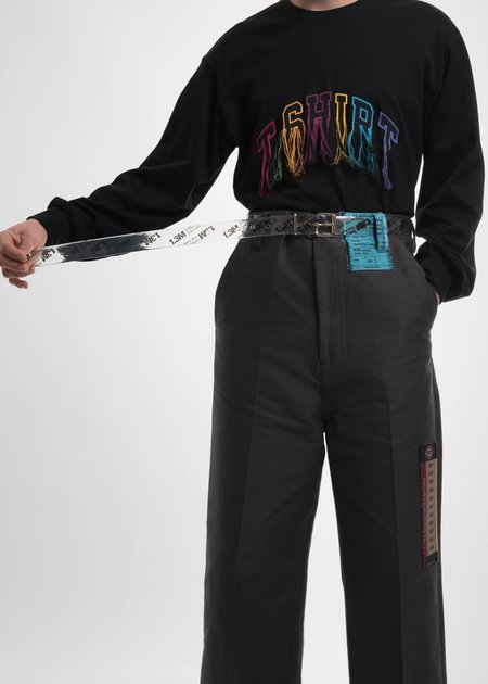 Doublet Clear Print PVC Belt