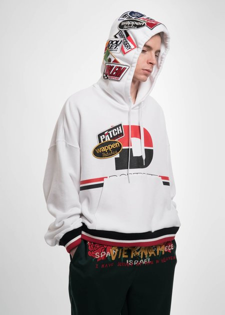 Doublet White Caos Patches Hoodie
