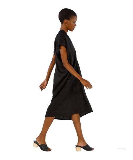 Miranda Bennett Black Linen Everyday Dress