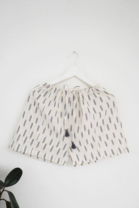 Karu Ikat Sleep Shorts in Ivory