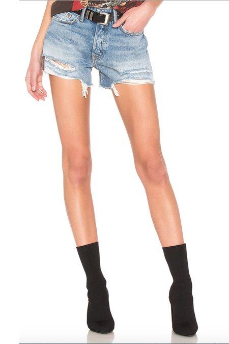GRLFRND Helena Cut-off Shorts - Haggard