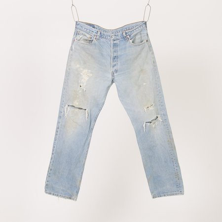 Unis New York Vintage Distressed Levi's 501 Jeans - Blue