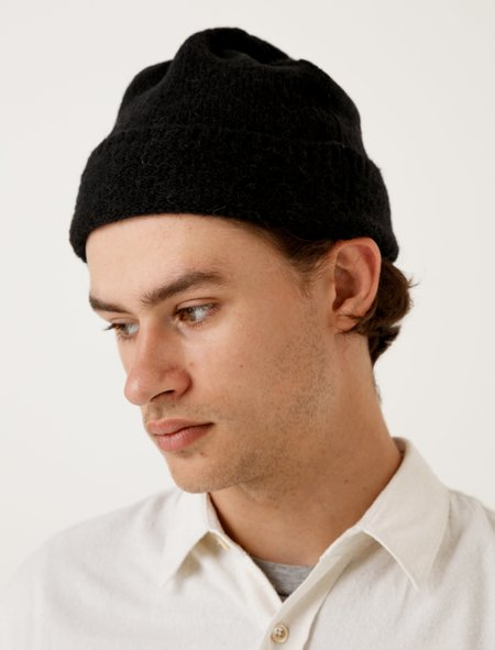 Our Legacy Knitted Hat - Black Needled