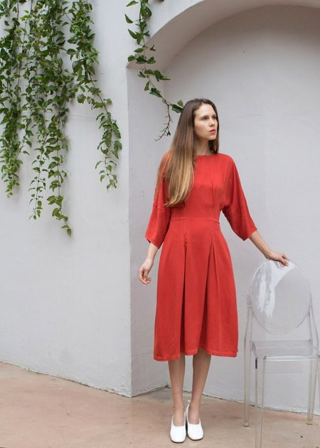 nico nico Toni Tulip Dress - Crimson