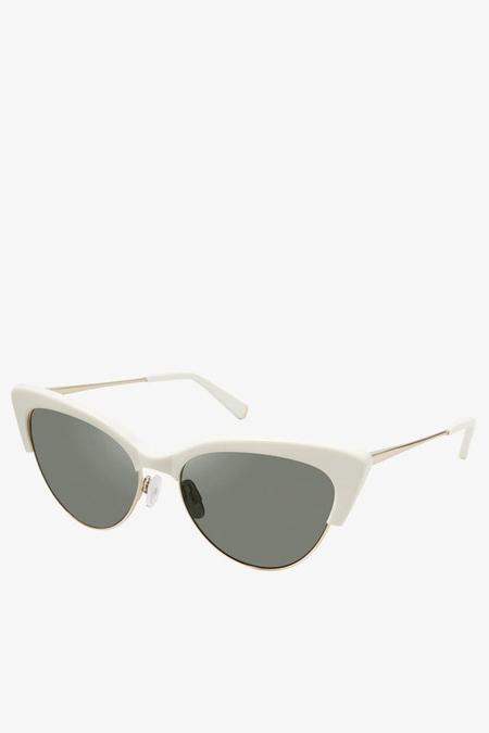 Kate Young for Tura Cecelia Sunglasses in Bone