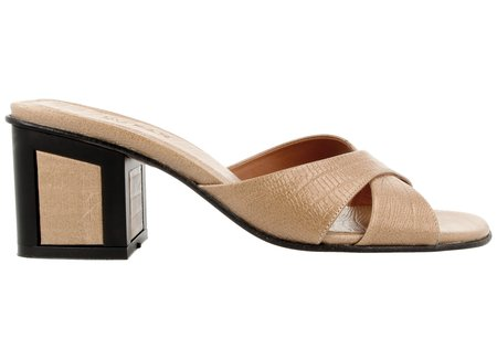 By Far Shoes Pablo in Nude Lizard