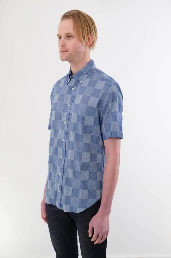 Gitman Vintage Short Sleeve Patchwork Shirt