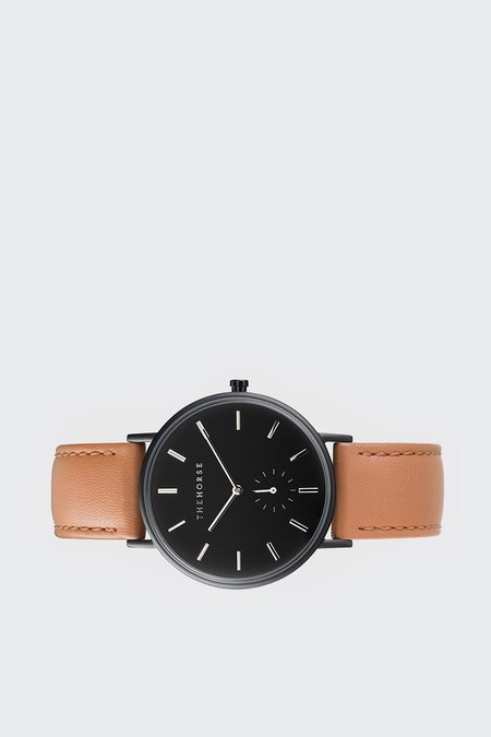 The Horse Classic Watch - Black/Tan Leather