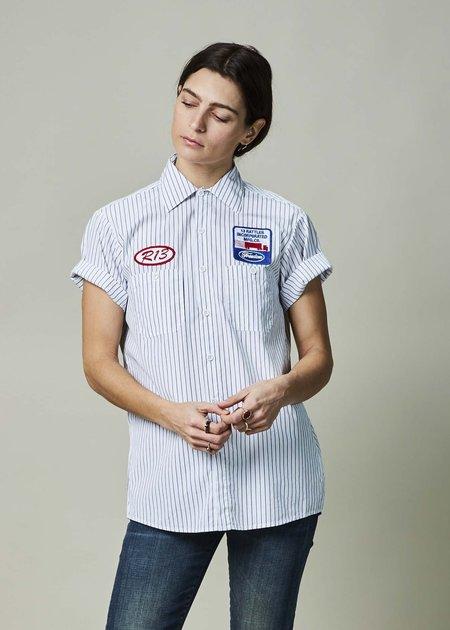R13 Pinstripe Mechanic Shirt