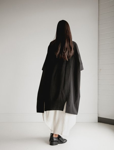 Ys by Yohji Yamamoto Shirting Panel Dress - Black