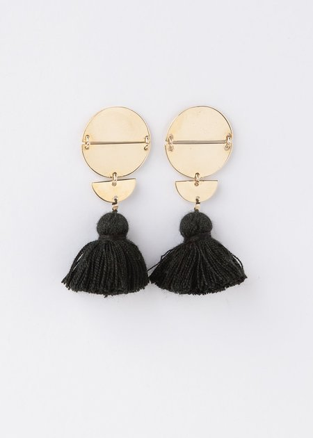 ILD Moon Tassel Eclipse Earring