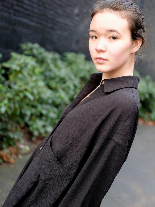Sunja Link SHIRT DRESS IN CRINKLE COTTON