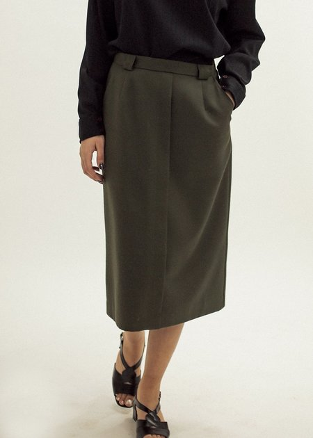 Pre by New Classics Vintage Army Green Pencil Skirt