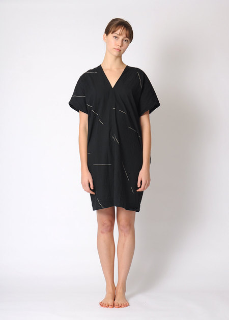 Uzi V Dress Black Beams