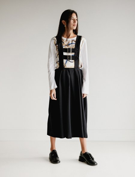 Comme des Garcons Buckle Suspender Skirt