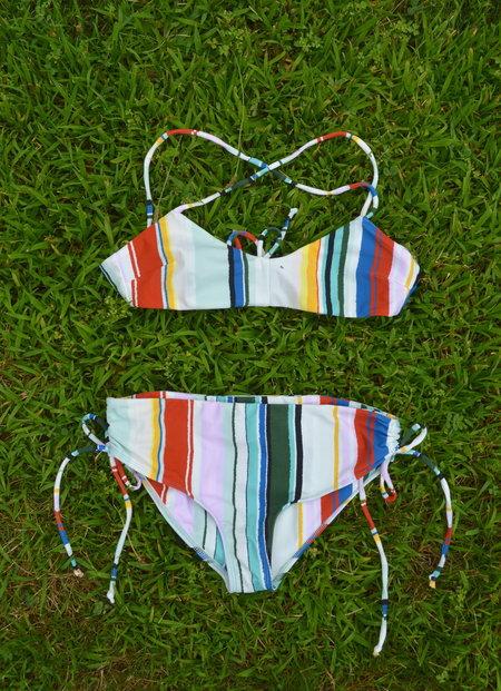 MADA Reef Bikini in Serepe Stripe - WHIT