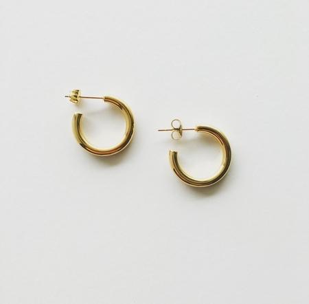 Machete Mini Hoop Earrings in 14k Gold