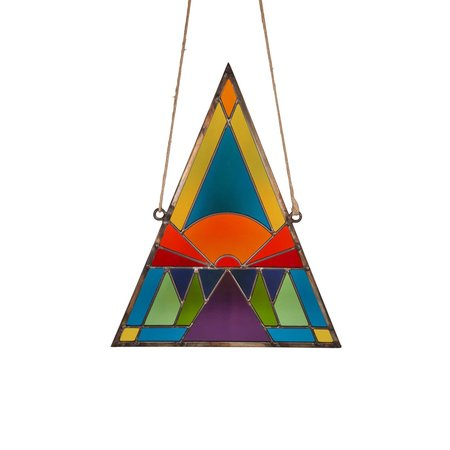 David Scheid Stained Glass Sunset Triangle