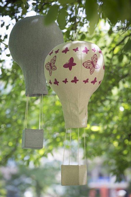 Kids Lil' Pyar Pink Butterflies Hot Air Balloon Mobile