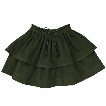 Kid's Petite Lucette Sophie Skirt - Moss Green Corduroy