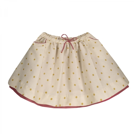 Kid's Petite Lucette Sylvette Skirt - Golden Dots