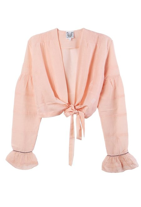 Thierry Colson Sagan Wrapped Top - Rose