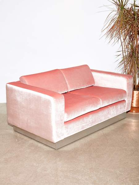 Coming Soon Milo Baughman Love seat sofa