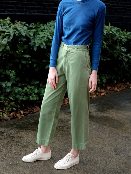 Shop Boswell VINTAGE WORK PANTS - GREEN