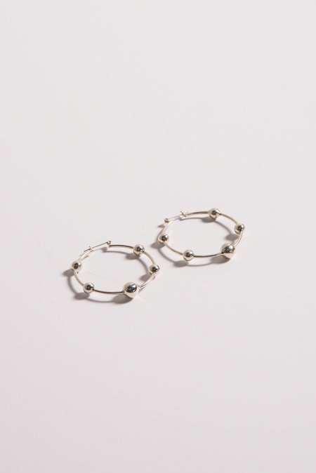 Erin Considine Orbita Hoops in Silver