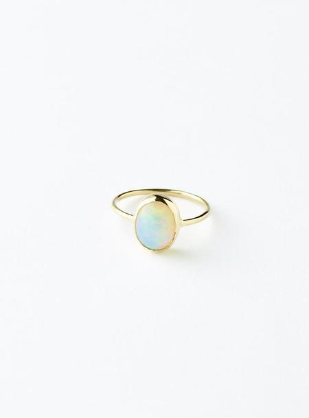 Olivia Kane Opal Oval Ring (14k gold)