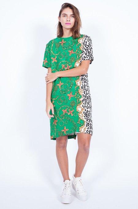 Yo Vintage! Green Silk Dress - Medium
