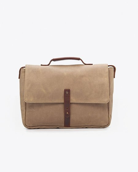 Nisolo Loreto Messenger Bag - Waxed Canvas