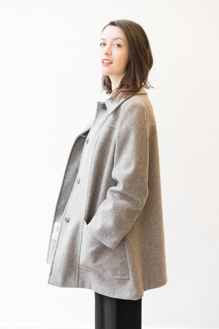 Backtalk PDX VINTAGE GREY WOOL COAT M/L