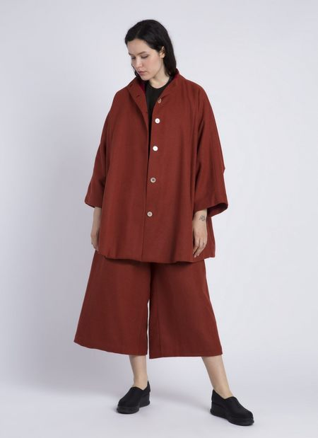 KAAREM Bo Mach High Collar Pocket Coat