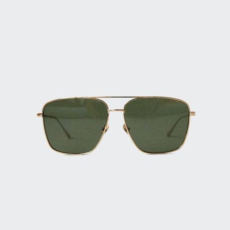 Reframe Wall St. Sunglasses - Yellow Gold