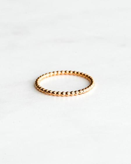 Seldom Seen Tiny Ball Ring - Rose Gold