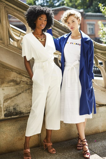 Loup Queen Trench - French Blue