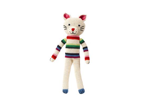 Kid's Anne-Claire Petit Felix the Cat White- Dodo Les Bobos