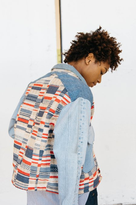 Triarchy Flag Jacket - Blue Denim
