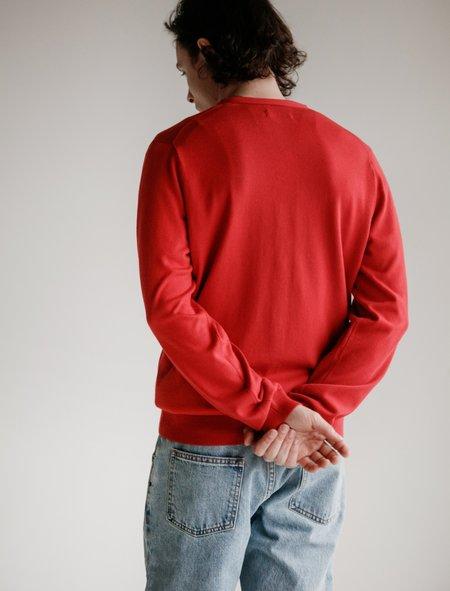 Meticulous Knitwear Woodstock Cardigan - Red