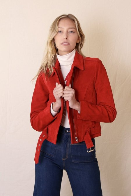 Rolla's Hutchence Suede Jacket Flame