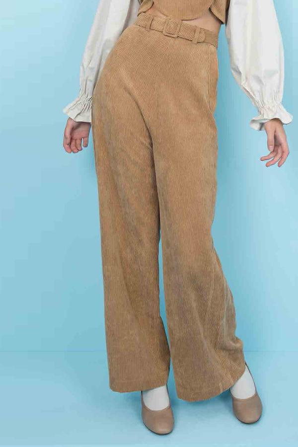 Samantha Pleet Tightrope Pants Tan