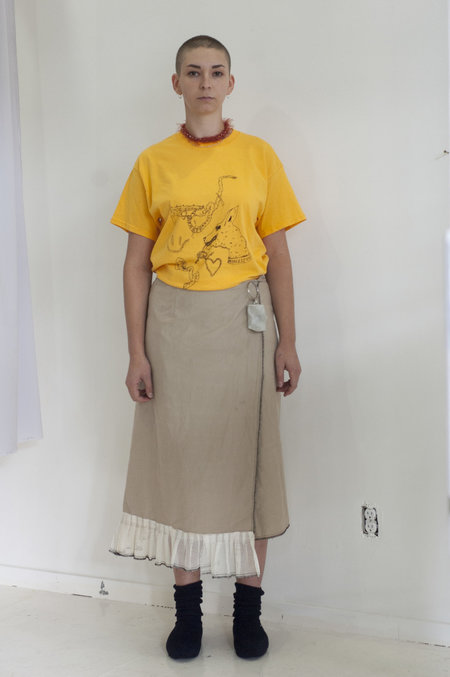 A Person Made Wrap Skirt