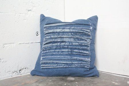 Alexa Stark Denim Stacked Shag Pillow