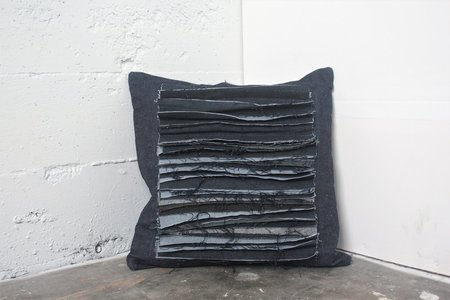 Alexa Stark Denim Stacked Shag Pillow No.2